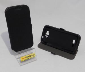 Pouzdro Book Flexi Pocket Alcatel One Touch Pop C7 7041D Černé