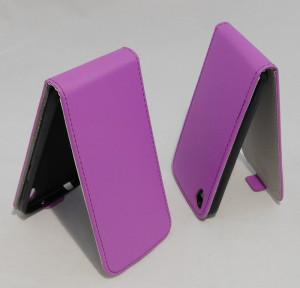 Pouzdro Forcell Slim Flip 2 flexi Alcatel One Touch IDOL 3 6039Y 4.7 Fialové