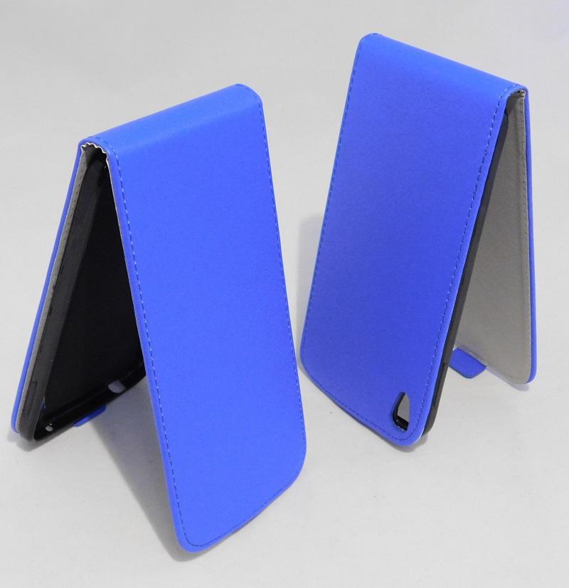 Pouzdro Forcell Slim Flip 2 flexi Alcatel One touch IDOL 3 6045Y 5.5 Tmavě Modré