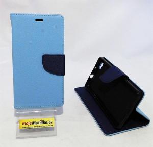 Pouzdro TEL1 Fancy Diary Huawei Ascend P8 Lite Světle modré