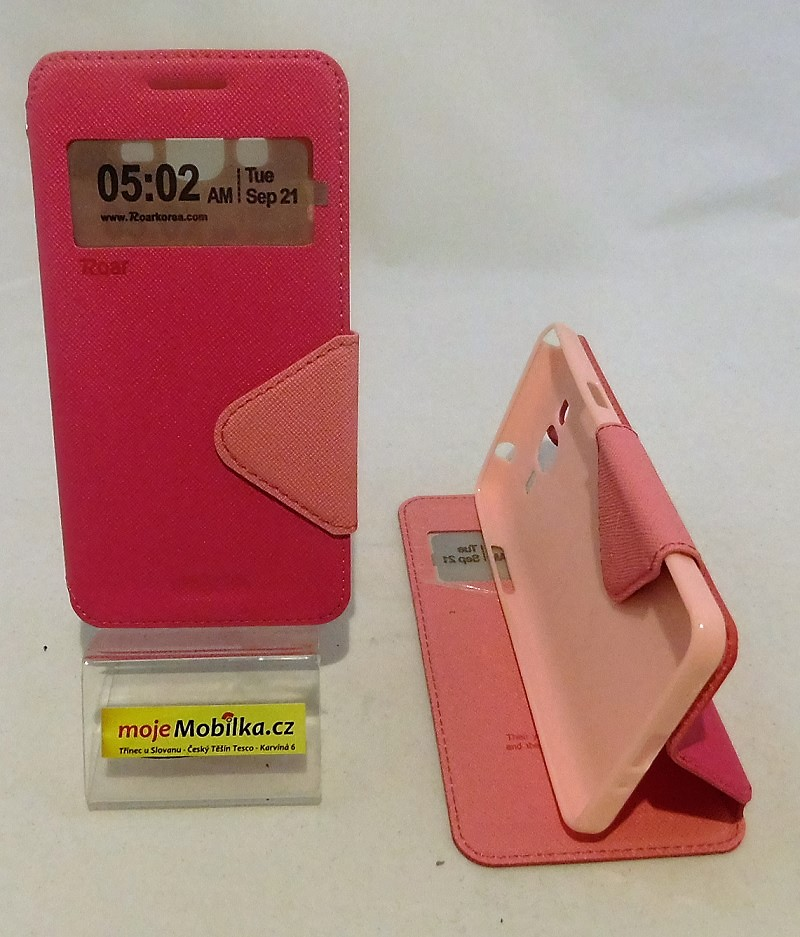 Puzdro View Fancy Flip Diary pre Samsung Galaxy J5 J500 - ružové