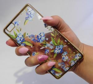 Pouzdro Diamonds design Huawei Ascend P8 Lite Modré