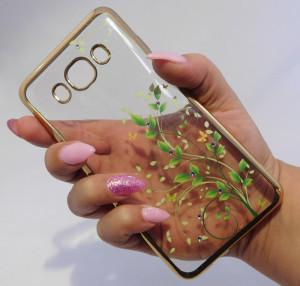Pouzdro Diamonds design Samsung Galaxy J5 J510 2016 Zelené