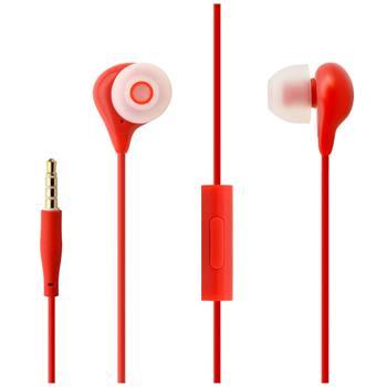FIXED EGG1 Sluchátka In-ear s mikrofonem 3,5mm jack červená