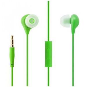 FIXED EGG1 Sluchátka In-ear s mikrofonem 3,5mm jack zelená