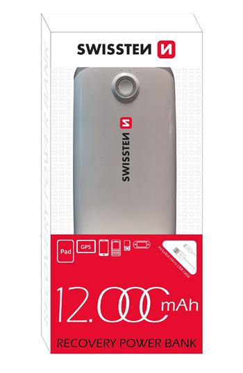 SWISSTEN RECOVERY POWER BANK 12000 mAh