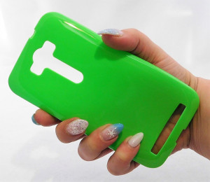 Pouzdro Jelly Case Asus Zenfone 2 laser 5.0 ZE500KL Zelené