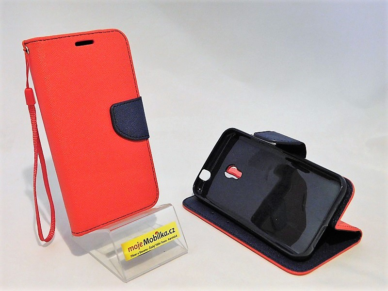 Pouzdro Fancy Case Vodafone Smart Turbo 7 Červené