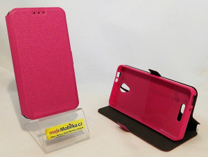 Pouzdro Book Flexi Pocket Alcatel POP 4 5051D Růžové