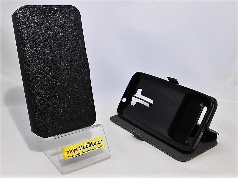 Pouzdro Book Flexi Pocket Asus Zenfone 2 laser 5.0 ZE500KL Černé