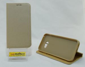 Pouzdro Smart Case Book pro Samsung Galaxy A5 2017 A520 Zlaté