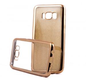 Pouzdro Glitter Case Elektro Samsung Galaxy S8 Zlaté