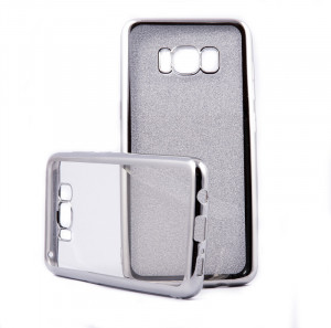 Pouzdro Glitter Case Elektro Samsung Galaxy S8 Stříbrné