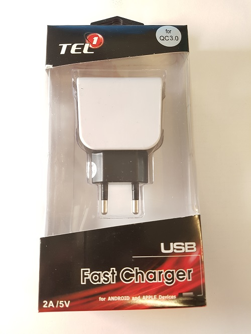 TEL1 nabíjačka USB 2,5A Quick Charge 3.0
