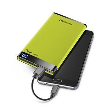 Power Bank CellularLine FreePower Manta 6000mAh (FREEPMANTA6000G) zelená