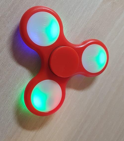 Fidget spinner Fancy LED Red
