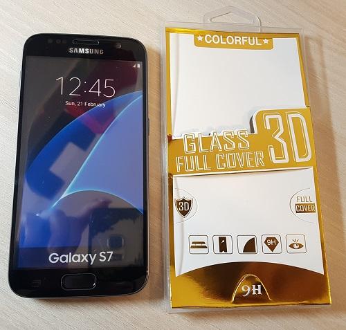 Colorful 3D tvrzené sklo Samsung Galaxy S7 G930 Černé 20176