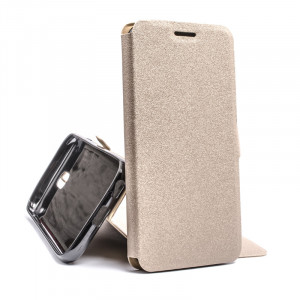 Pouzdro Book Flexi Pocket Samsung Galaxy J3 J330 2017 Zlaté