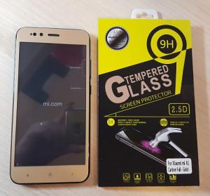 Carbon ochrana displeje Glass 3D pro Xiaomi mi A1, zlaté 20594