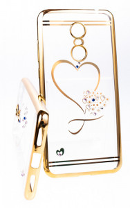 Pouzdro Diamonds TPU Xiaomi Redmi 5 Plus Srdce