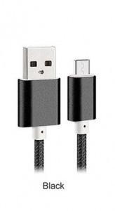 Metalic cable 1M iPhone 5 Black