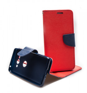 Puzdro Fancy Book - Sony Xperia XZ2 Compact - Červené