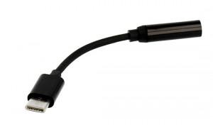 Adaptér sluchátkový - micro usb Typ C na jack 3,5mm Černý