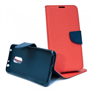 Fancy Book case - Xiaomi Redmi 5 Plus Červené