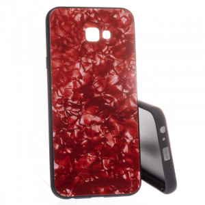 Marble Glass Samsung Galaxy J4+ 2018 J415 Červené