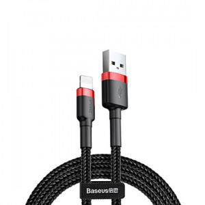Baseus USB kabel Cafule Lightning 2,4A 1metry CALKLF-B19 Černo-červené