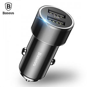 Baseus autonabíječka Small Screw 3.4 A Dual-Usb (CAXLD-C01) Černá