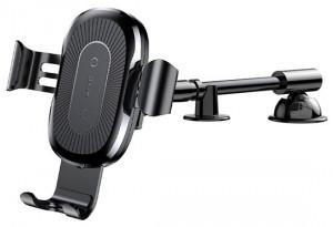 Baseus držák do auta +bezdrátová nabíječka Qi z pružným ramenem Heukji (WXZT-01)Černá