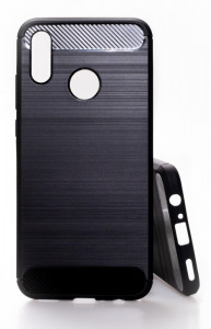 Pouzdro CARBON LUX Huawei P Smart 2019 Černé