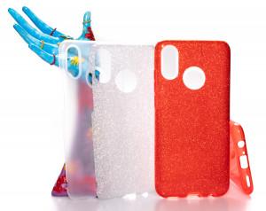 Pouzdro Glitter 3V1 Case Huawei P Smart 2019 Červené