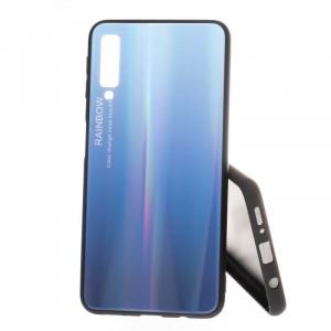 Pouzdro Rainbow Glass Samsung Galaxy A7 2018 A750 Modré