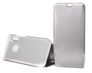 Pouzdro Clear View Huawei P Smart 2019 Stříbrné