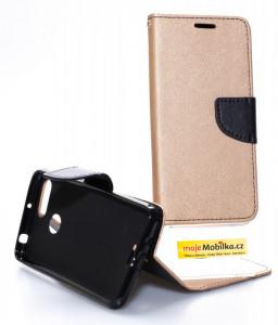 Pouzdro Telone FANCY Diary Xiaomi Redmi 6 Zlato-černé