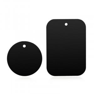 Sada 2ks plíšků vhodných pro magnetické držáky, černé