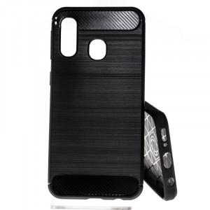 Pouzdro CARBON LUX Samsung Galaxy A40 A405 Černé