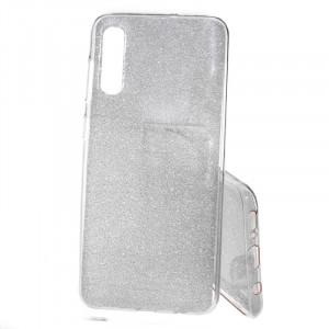 Pouzdro Shine Case pro Samsung Galaxy A50 A505 Stříbrné