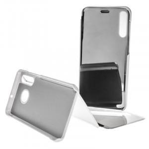 Pouzdro Clear View Samsung Galaxy A50 A505 Stříbrné