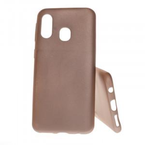 Pouzdro Jelly Case Flash Mat pro Samsung A40 A405 Zlaté