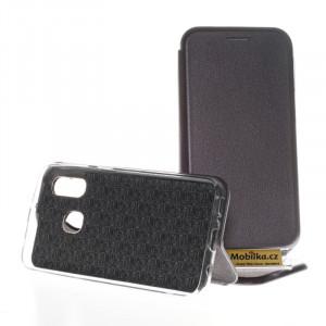 Pouzdro Forcell Elegance Samsung Galaxy A40 A405 Stříbrné