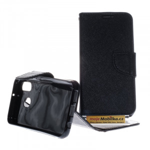 Pouzdro TEL1 Fancy Diary Samsung Galaxy A40 A405 Černé