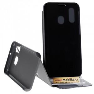 Pouzdro Clear View Samsung Galaxy A40 A405 Černé