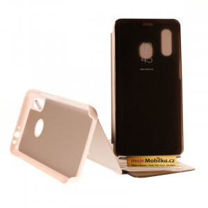 Pouzdro Clear View Samsung Galaxy A40 A405 Zlaté