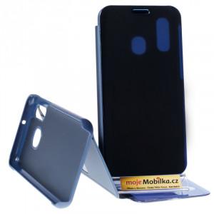 Pouzdro Clear View Samsung Galaxy A40 A405 Modré