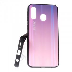 Pouzdro Rainbow Glass Samsung Galaxy A40 A405 Růžové