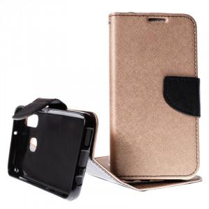 Pouzdro TEL1 Fancy Diary Samsung Galaxy A40 A405 Zlato-černé