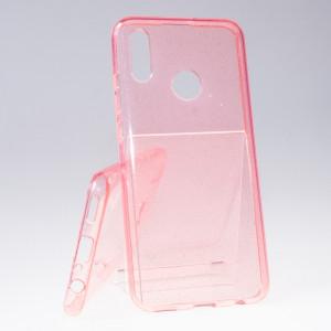 Pouzdro Crystal Glitter Honor 10 Lite Růžové